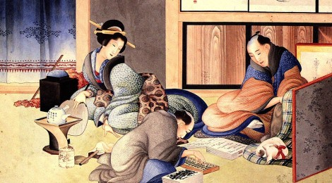 Hokusai, A merchant making up the account